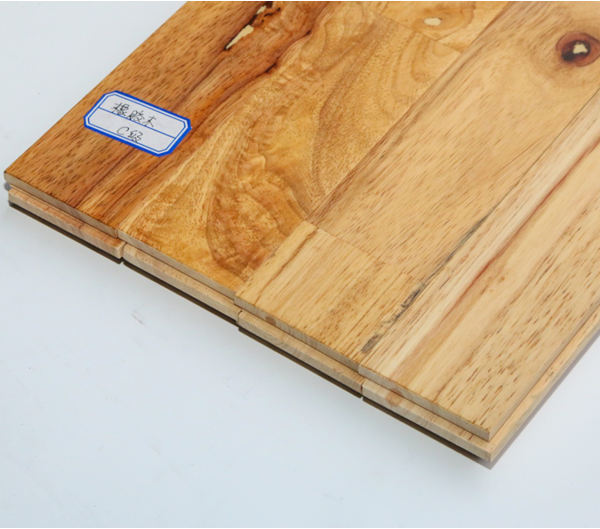 橡胶木指接地板